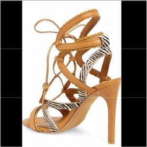 "0c221bba1c0 Dolce Vita Shoes - Dolce Vita ""Haven"" Lace-up Sandal Heels Sz 7.5"